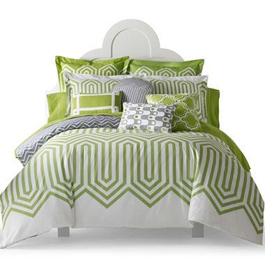 happy chic by jonathan adler charlotte duvet cover set i jcpenney. Black Bedroom Furniture Sets. Home Design Ideas