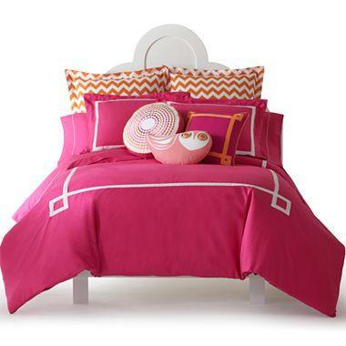happy chic by jonathan adler katie solid duvet cover set i jcpenney. Black Bedroom Furniture Sets. Home Design Ideas