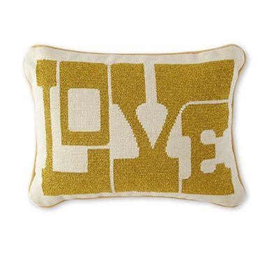 Jcpenney Gold Decorative Pillows : Happy Chic by Jonathan Adler Love Decorative Pillow I jcpenney