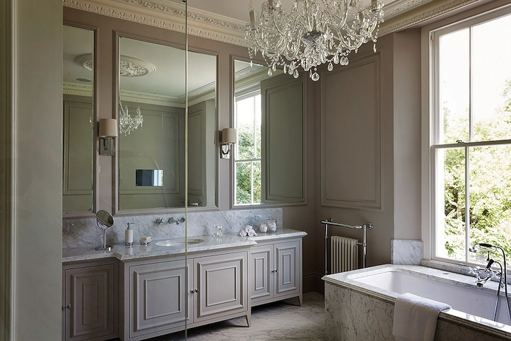 Taupe bathroom transitional bathroom 1st option for Taupe bathroom ideas