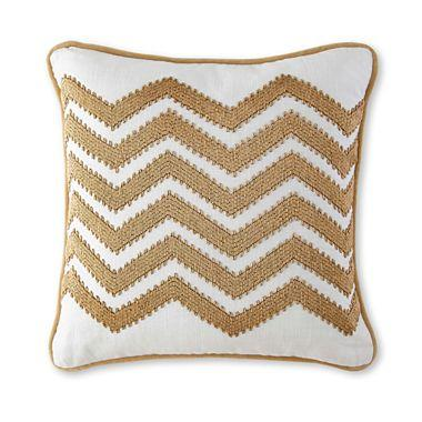 Jcpenney Gold Decorative Pillows : Happy Chic by Jonathan Adler Chevron Decorative Pillow I jcpenney