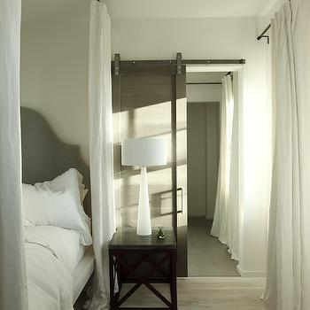 Bedroom with Barn Door, Transitional, bedroom, Alys Beach