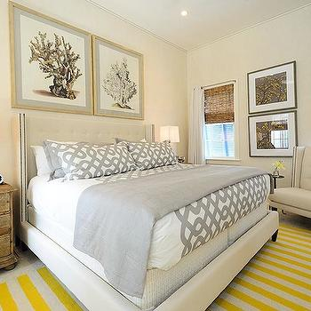 Gray and Yellow Bedroom, Cottage, bedroom, Alys Beach