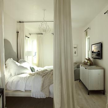Ceiling Mounted Bed Canopy, Transitional, bedroom, Alys Beach