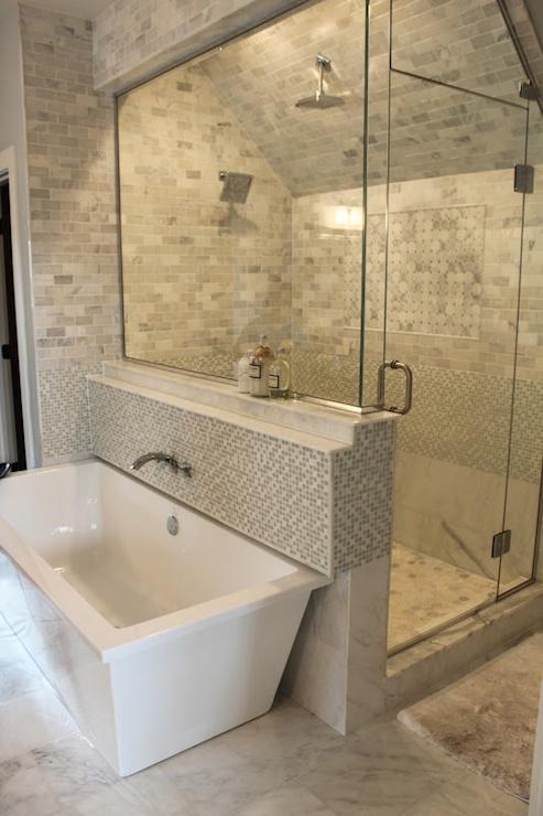 Sloped Shower Ceiling - Contemporary - bathroom