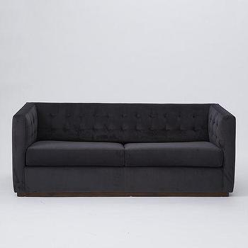 Seating - Rochester Sleeper Sofa | west elm - tufted velvet sleeper sofa, charcoal gray velvet sleeper sofa, contemporary tufted velvet sleeper sofa, tufted sleeper sofa, contemporary tufted sleeper sofa,