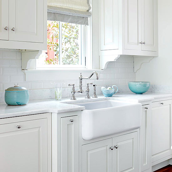 Turquoise Kitchen Accents Transitional BHG