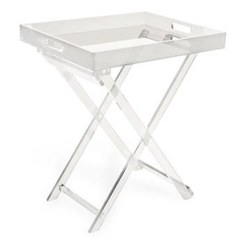 Tables - Handles Table I Zara Home - acrylic tray table, acrylic glass table, folding acrylic tray table,
