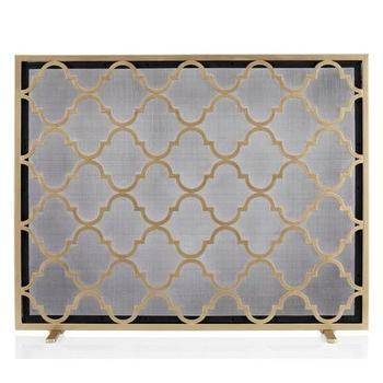 Decor/Accessories - Meridian Fireplace Screen | Z Gallerie - geometric fireplace screen, gold geometric fireplace screen, modern gold fireplace screen,