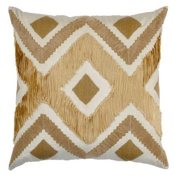 Pillows - Regalia Pillow I ZGallerie - geometric gold beige and white pillow, zig zag gold beige and white pillow, modern gold beige and white pillow,