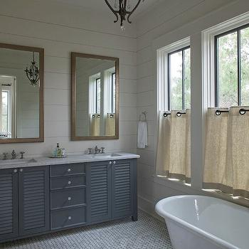 Louvered Vanity, Cottage, bathroom, Geoff Chick