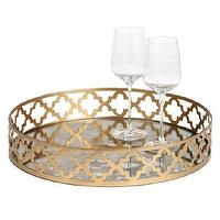 Decor/Accessories - Meridian Tray | Z Gallerie - gold quatrefoil tray, round gold quatrefoil tray, round gold geometric bar tray,