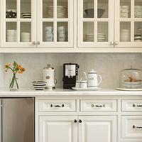 Built in coffee machine transitional kitchen more design build