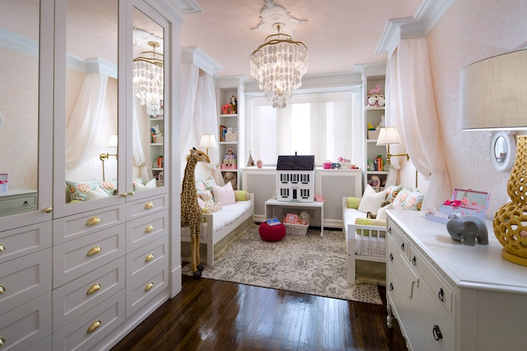 Pink and gray nursery transitional nursery candice olson for Candice olson teenage bedroom designs