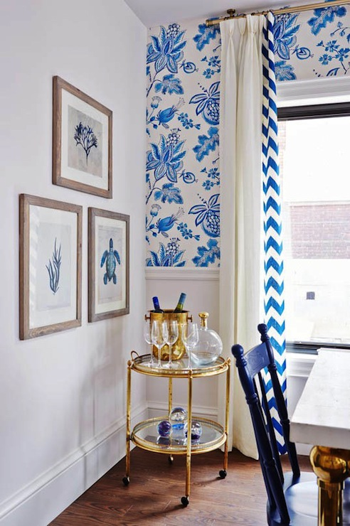 Thibaut Donegal Wallpaper Contemporary Kitchen Ici