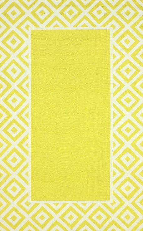 Homespun Border Lemon Rug I Rugs Usa