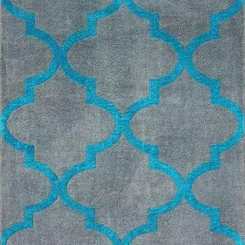 Rugs - Serendipity Alene Trellis Grey Rug | Rugs USA - gray and turquoise trellis rug, gray and turquoise moroccan tile rug, gray and turquoise geometric rug,