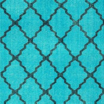 Rugs - Serendipity Aqua Rug | Rugs USA - black and aqua rug, aqua rug with black trellis pattern, black and turquoise contemporary rug, black and turquoise trellis rug,