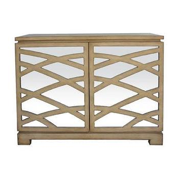 Storage Furniture - Sterling Industries Rhine Cabinet | Wayfair - mirror fronted cabinet, mirrored wood cabinet, light wood cabinet with mirrored front, light wood cabinet with geometric mirrored front,
