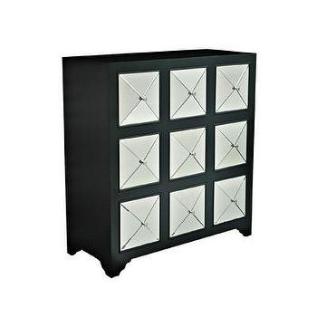 Storage Furniture - Crestview Metropolis Cabinet | Wayfair - black mirrored chest, black mirrored cabinet, black cabinet with mirrored front, black cabinet with beveled mirror front,
