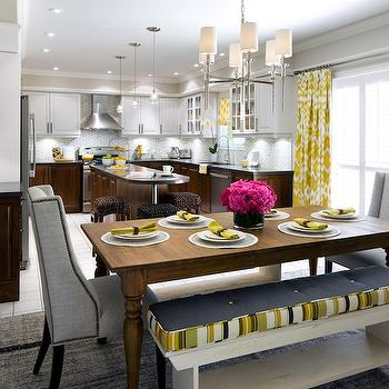 Yellow and Gray Dining Room, Contemporary, kitchen, Candice Olson