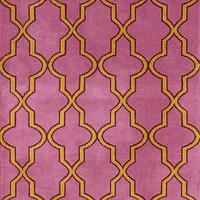 Rugs - Serenity Moroccan Trellis Pink Rug | Rugs USA - pink and orange moroccan rug, pink and orange moroccan trellis rug, pink and orange moroccan tile rug,