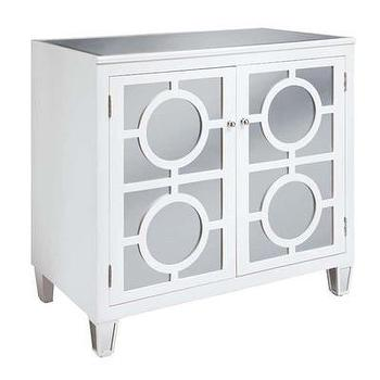Storage Furniture - Crestview Mirrored 2 Door Cabinet | Wayfair - white mirrored cabinet, white geometric mirror front cabinet, white geometric mirror fronted cabinet, contemporary white mirrored cabinet,