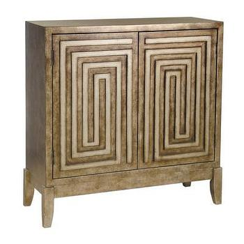 Storage Furniture - Pulaski Hall Chest | Wayfair - geometric gold chest, geometric gold cabinet, gold chest,