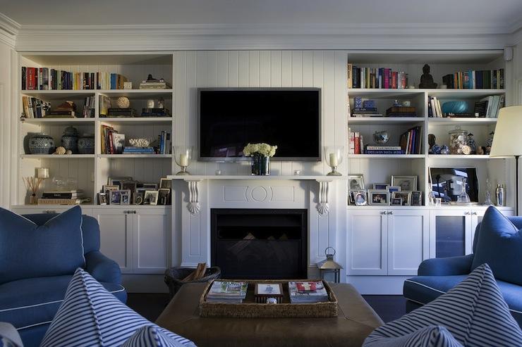 Built In Cabinets Cottage Living Room Denai Kulcsar