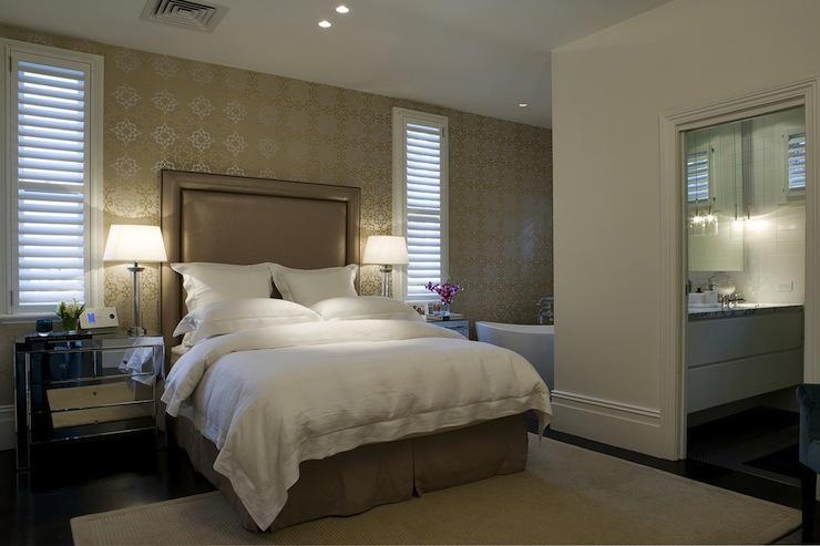 Taupe Headboard Transitional Bedroom Denai Kulcsar