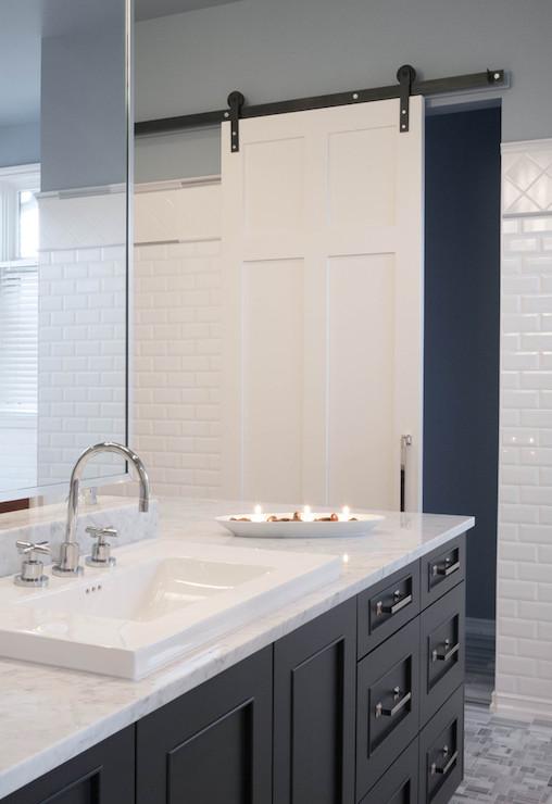 Bathroom With Barn Door Contemporary Bathroom