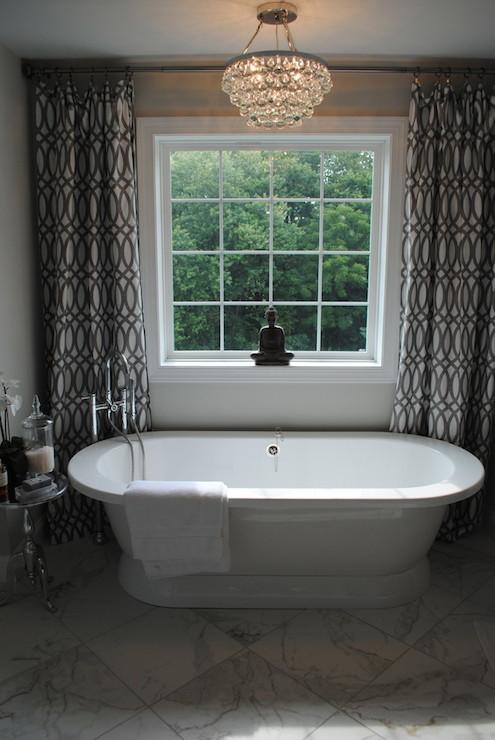 Trellis Curtains Contemporary Bathroom Karen Viscito