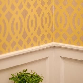 Du Barry Wallpaper, Contemporary, bathroom, Benjamin Moore Revere Pewter, Well Nested Interiors