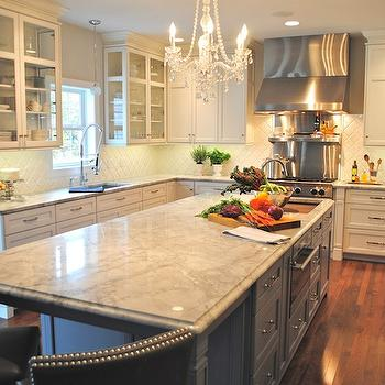 Super White Countertops, Transitional, kitchen, Karen Viscito Interiors