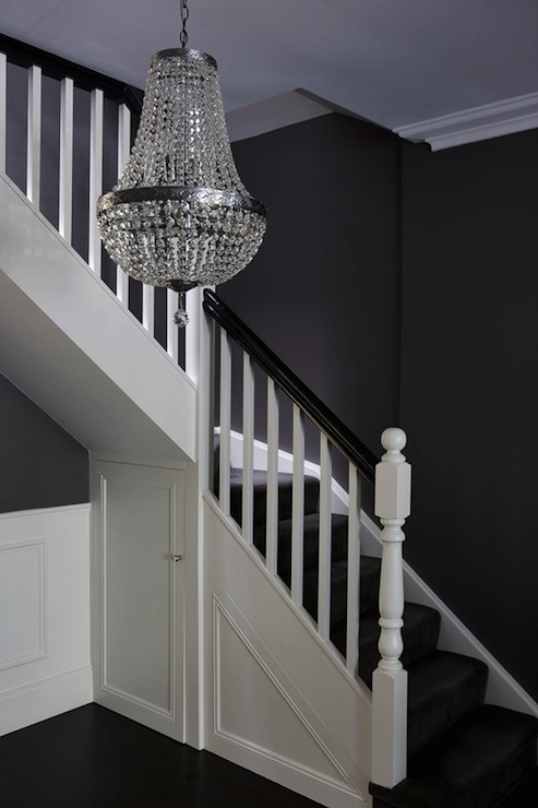 Under The Stairs Closet Transitional Entrance Foyer