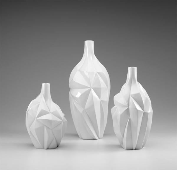Glacier Vase in Assorted Sizes design by Cyan Design