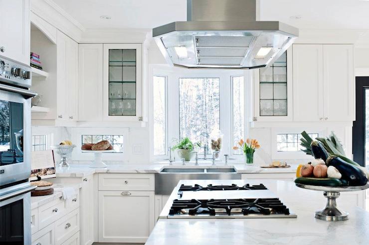 Bay Window Over Kitchen Sink Transitional Kitchen