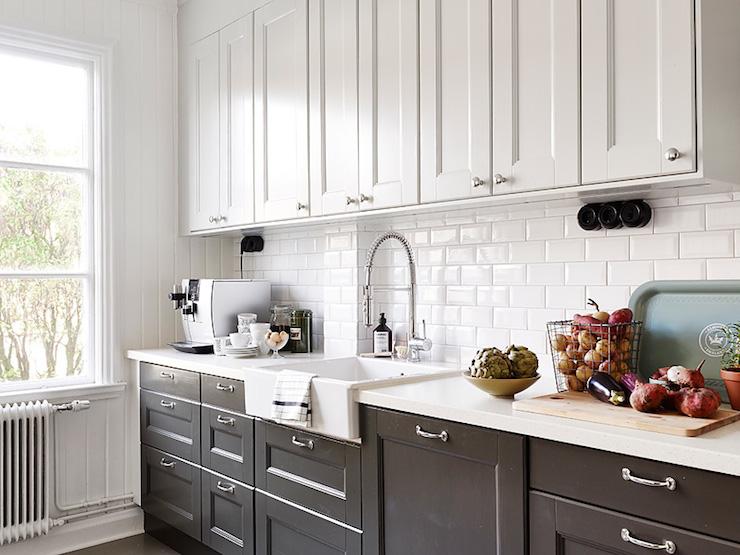 Black And White Kitchen Transitional Stadshem