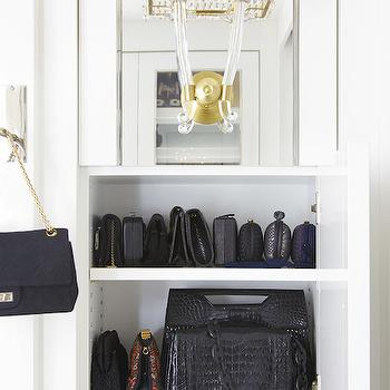 Lonny Magazine - closets - handbag cabinet, handbag closet, bag closet, bag cabinet, cabinet for bags, cabinet for handbags, closet for bags, closet for handbags, handbag storage, beaded sconce,