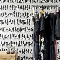 Wallpaper - Fashion Wallpaper design by Ferm Living | Burke Decor - black and white figure wallpaper, black and white silhouette wallpaper, people silhouette wallpaper,