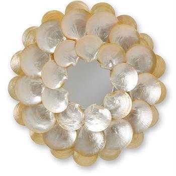 Mother-of-Pearl Wall Mirror design by Currey & Company I Burke Decor