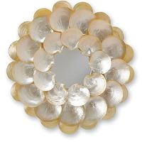 Mirrors - Mother-of-Pearl Wall Mirror design by Currey & Company I Burke Decor - mother of pearl wall mirror, round mother of pearl mirror, round seashell mirror,
