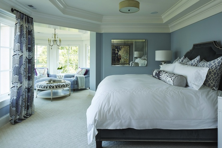 Blue And Gray Bedroom Transitional Bedroom Benjamin