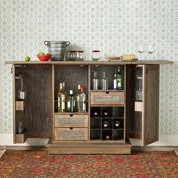 Storage Furniture - Chesterton Bar & Console | Robert Redford's Sundance Catalog - reclaimed oak bar, reclaimed wood bar, reclaimed bar console, wooden bar cabinet, reclaimed wood bar cabinet, reclaimed oak bar cabinet,