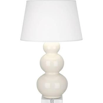 Lighting - Robert Abbey Triple Gourd 1 Light Table Lamp in Bone I homeclick.com - ivory triple gourd lamp, ivory triple gourd lamp on lucite base, triple gourd lamp on lucite base,