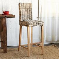 Seating - Lombok Rattan Bar Stools | Robert Redford's Sundance Catalog - rattan barstool, rattan bar stool, woven barstool, woven bar stool,