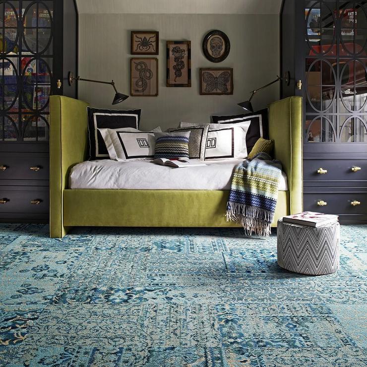 Carpet Tile At Flor: Reorinted-Teal Carpet Tile I FLOR