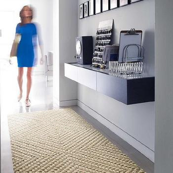 Rugs - Roadside Attraction-Eggnog carpet tile I FLOR - textured carpet tile, braided grooved carpet tile, geometric textured carpet tile, natural fiber style carpet tile,