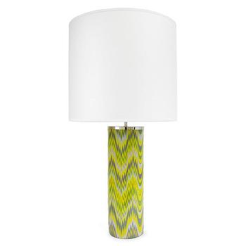 Lighting - Jonathan Adler Carnaby 1 Light Acid Palm Table Lamp | AllModern - acid yellow table lamp, modern yellow and gray table lamp, geometric yellow and gray table lamp,