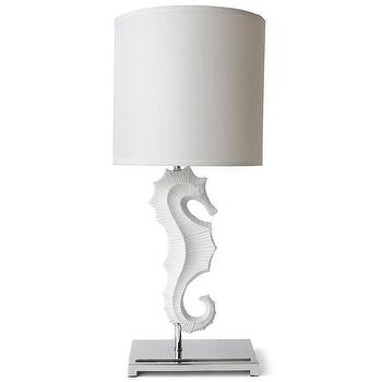 Lighting - Jonathan Adler 1 Light Seahorse Table Lamp | AllModern - modern white seahorse lamp, seahorse table lamp, white seahorse table lamp, white seahorse lamp on polished nickel base,